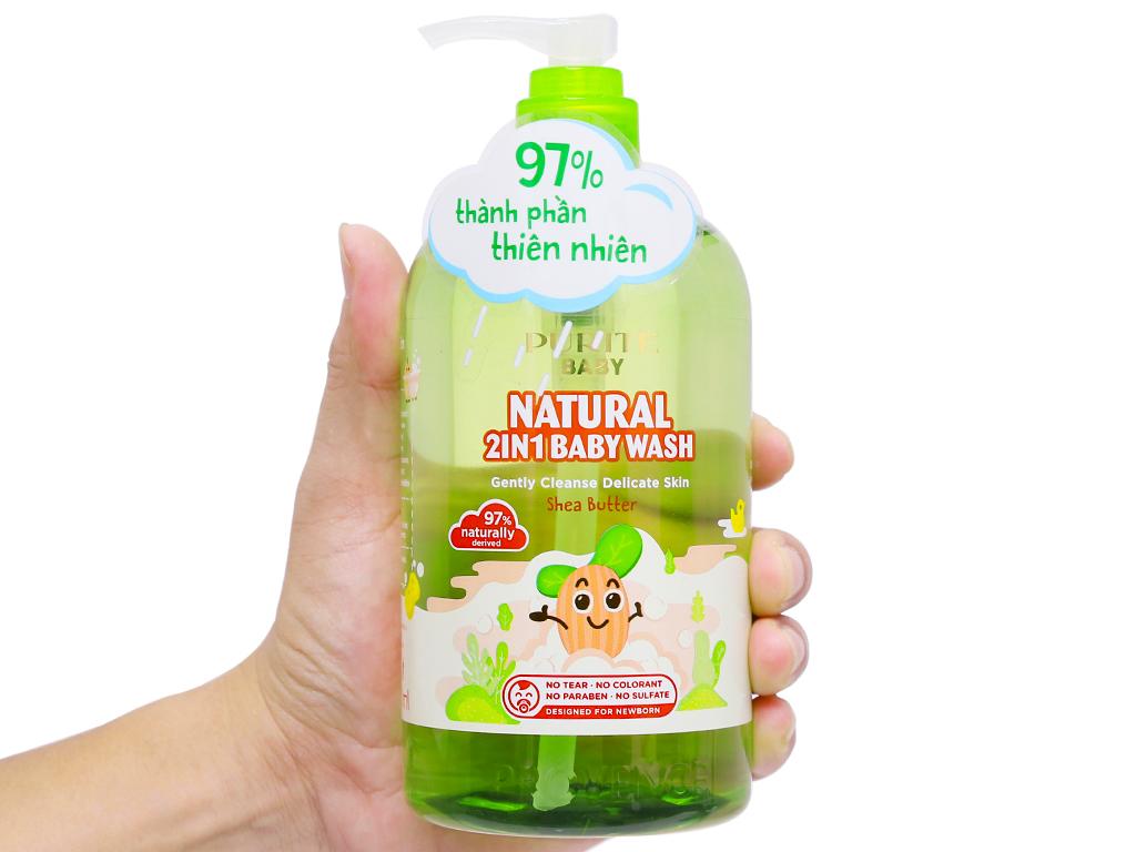 Sữa tắm gội cho bé Purité Baby bơ đậu mỡ 500ml 6