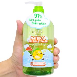 Sữa tắm gội cho bé Purité Baby tinh dầu cam 500ml