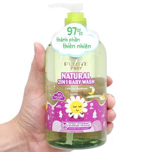 Sữa tắm gội cho bé Purité Baby cúc la mã 500ml