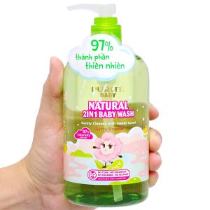Sữa tắm gội cho bé Purité Baby hoa anh đào 500ml