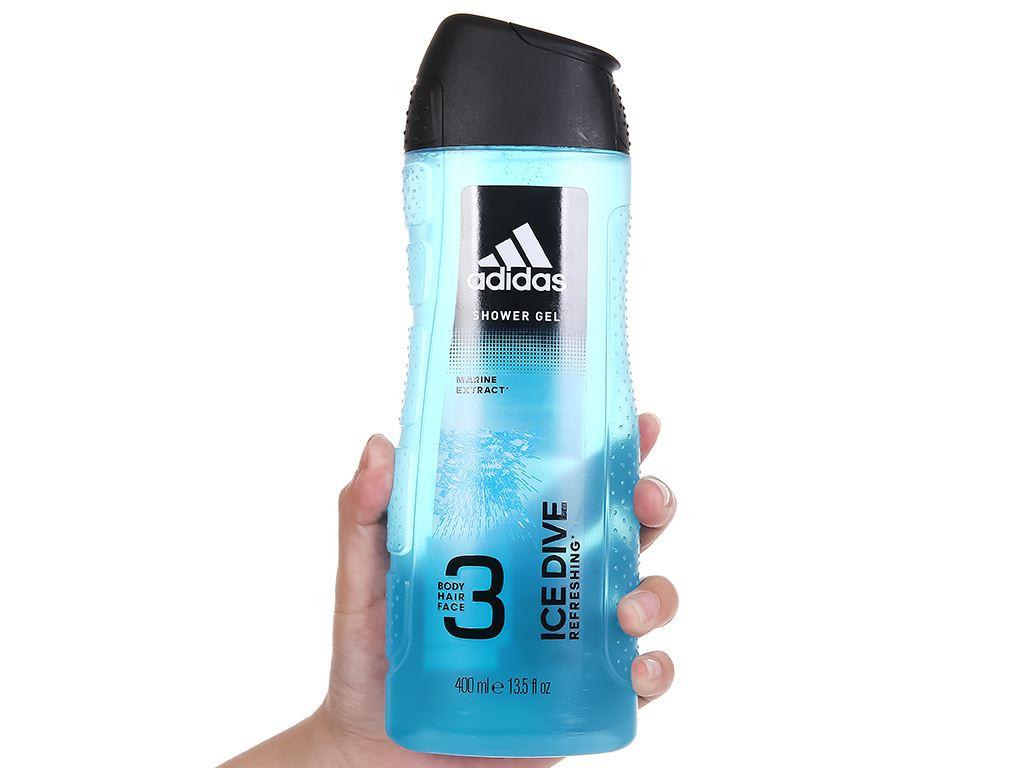 Sữa tắm gội toàn thân nam Adidas Ice Dive 400ml 5