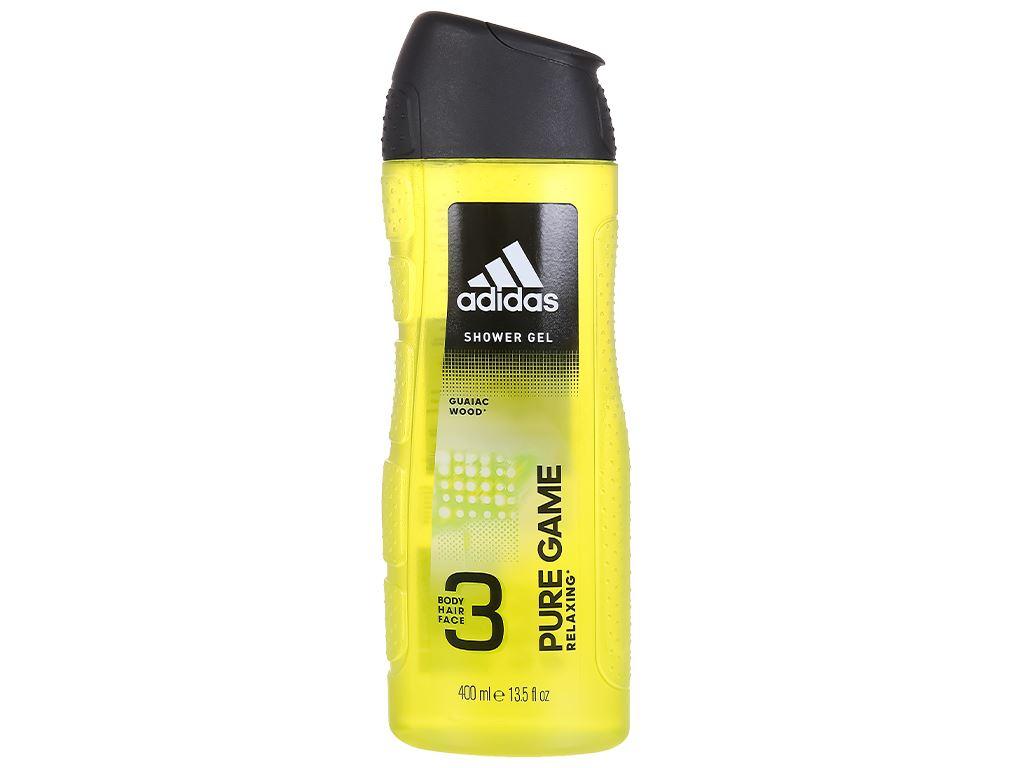 Sữa tắm gội toàn thân nam Adidas Pure Game 400ml 1