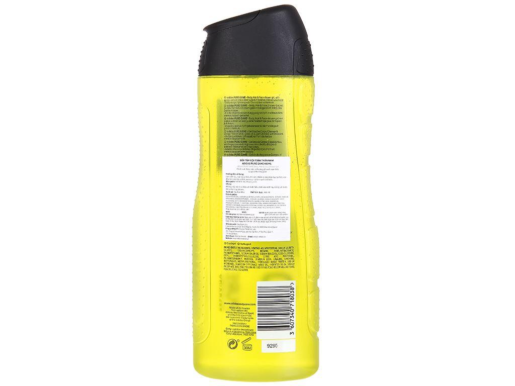 Sữa tắm gội toàn thân nam Adidas Pure Game 400ml 2