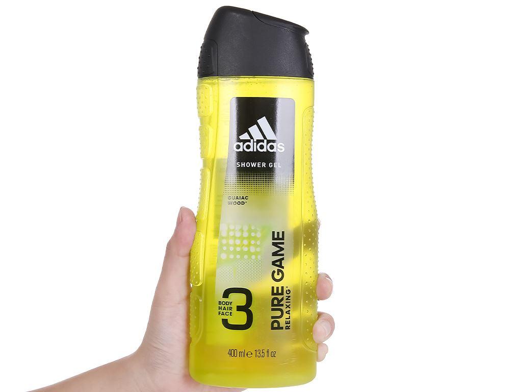 Sữa tắm gội toàn thân nam Adidas Pure Game 400ml 5