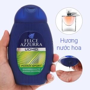 Tắm gội toàn thân nam hương nước hoa Felce Azzurra thể thao 250ml