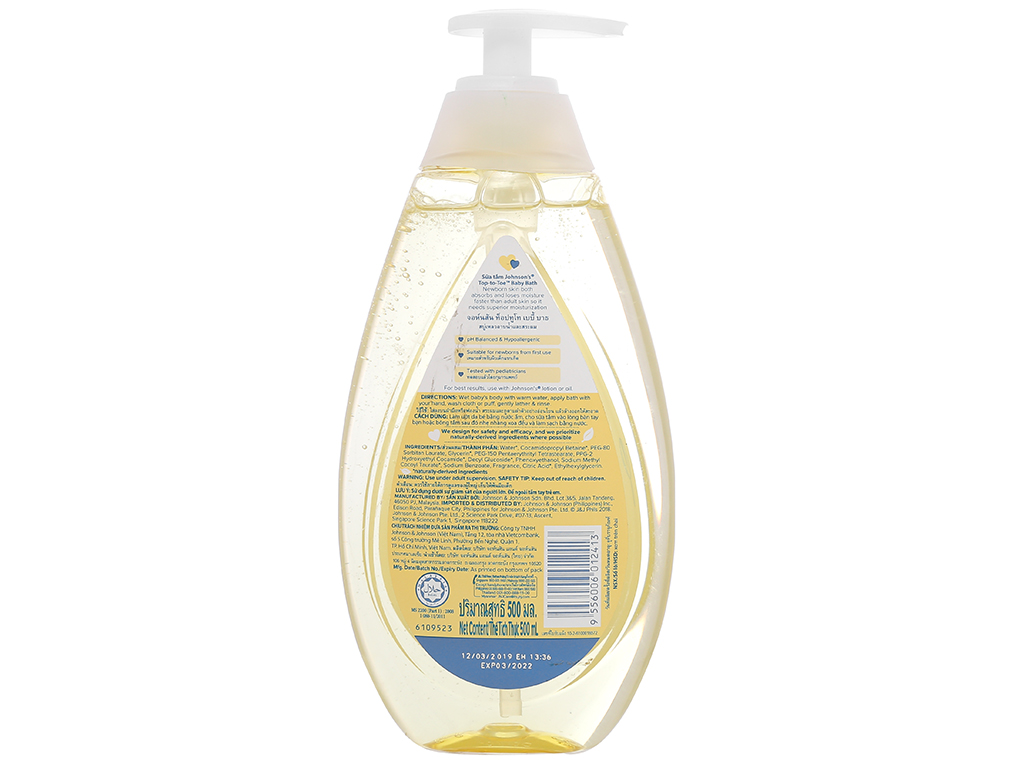 Tắm gội cho bé Johnson's Baby Top To Toe 500ml 2