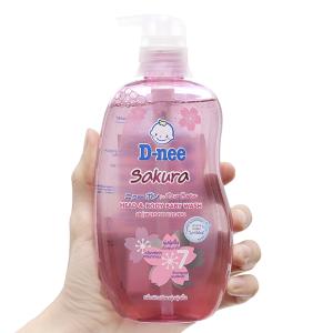 Tắm gội cho bé D-nee Sakura hồng 380ml