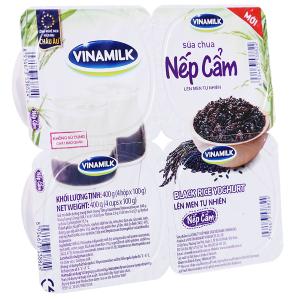 Lốc 4 hộp sữa chua nếp cẩm Vinamilk 100g