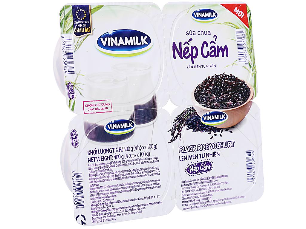Lốc 4 hộp sữa chua nếp cẩm Vinamilk 100g 1