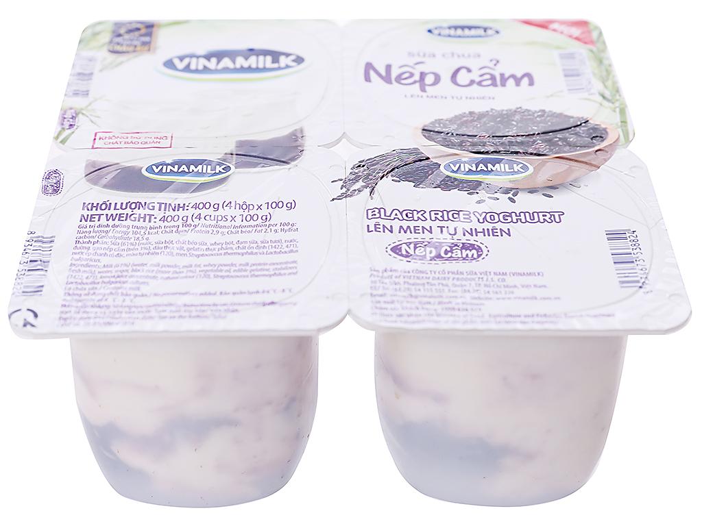 Lốc 4 hộp sữa chua nếp cẩm Vinamilk 100g 2