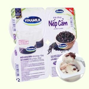 Lốc 4 hộp sữa chua Vinamilk nếp cẩm 100g