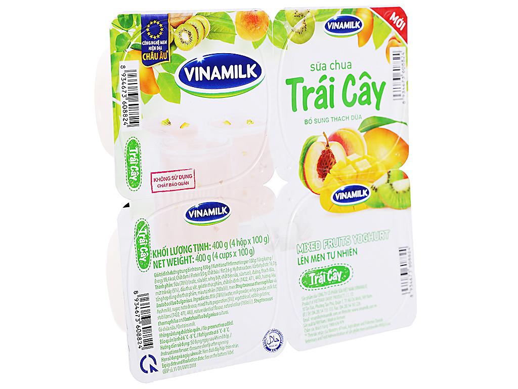 Lốc 4 hộp sữa chua trái cây Vinamilk 100g 1