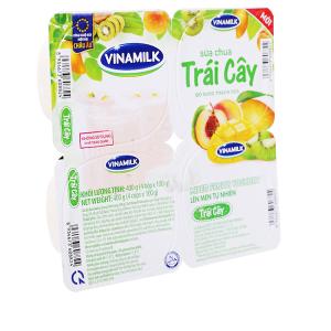 Lốc 4 hộp sữa chua trái cây Vinamilk 100g