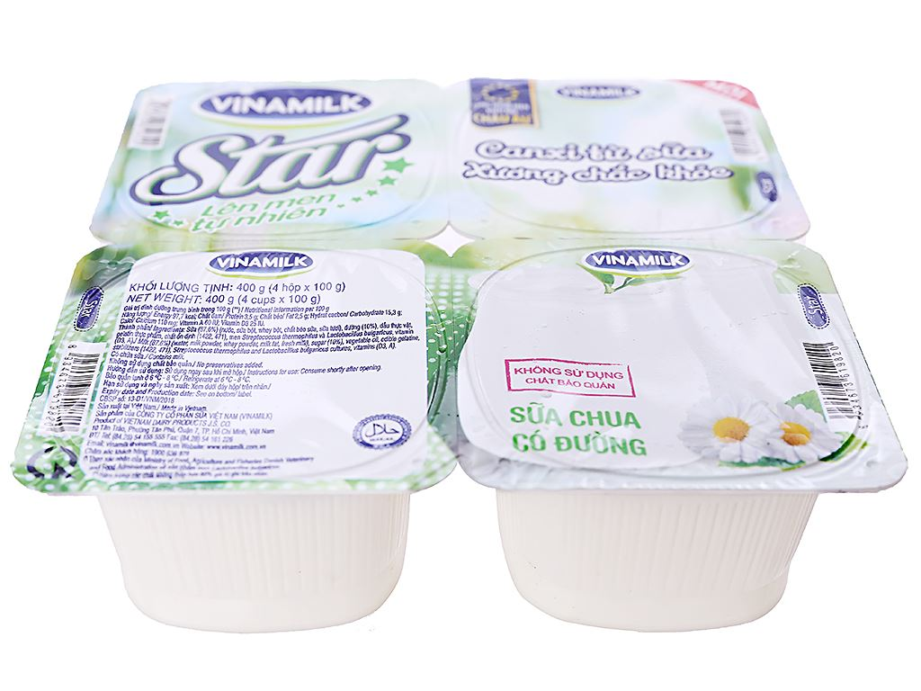Lốc 4 hộp sữa chua có đường Vinamilk Star 100g 2