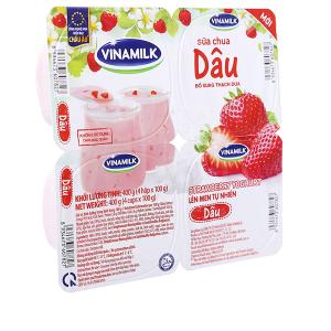 Lốc 4 hộp sữa chua dâu Vinamilk 100g