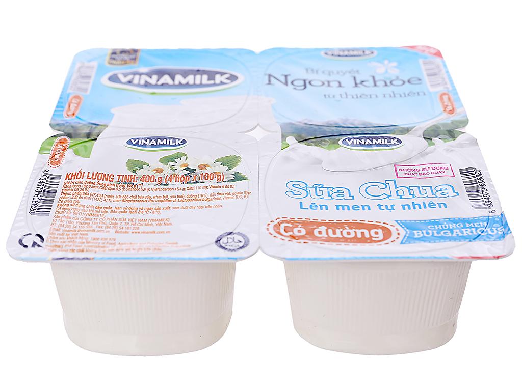 Lốc 4 hộp sữa chua có đường Vinamilk 100g 6