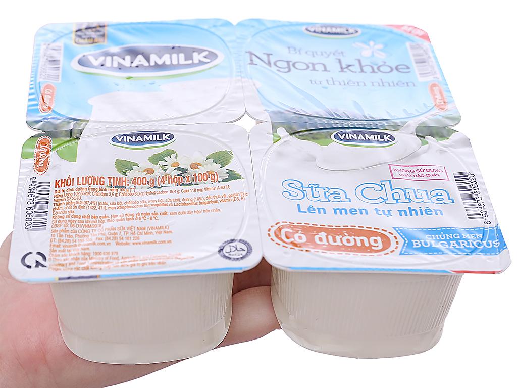 Lốc 4 hộp sữa chua có đường Vinamilk 100g 7