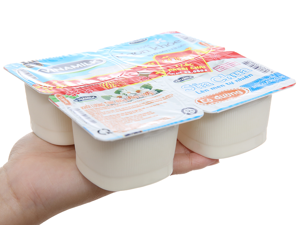 Lốc 4 hộp sữa chua có đường Vinamilk 100g 3