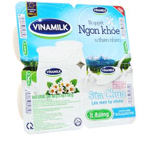 Lốc 4 hộp sữa chua ít đường Vinamilk 100g