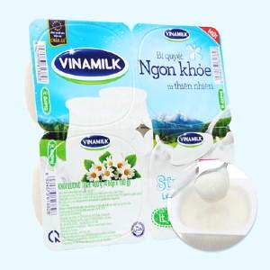 Lốc 4 hộp sữa chua Vinamilk ít đường 100g