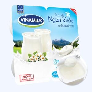 Lốc 4 hộp sữa chua Vinamilk không đường 100g