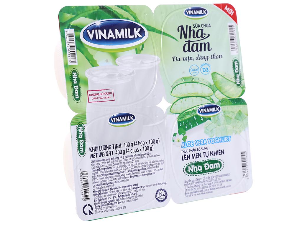 Lốc 4 hộp sữa chua nha đam Vinamilk 100g 1