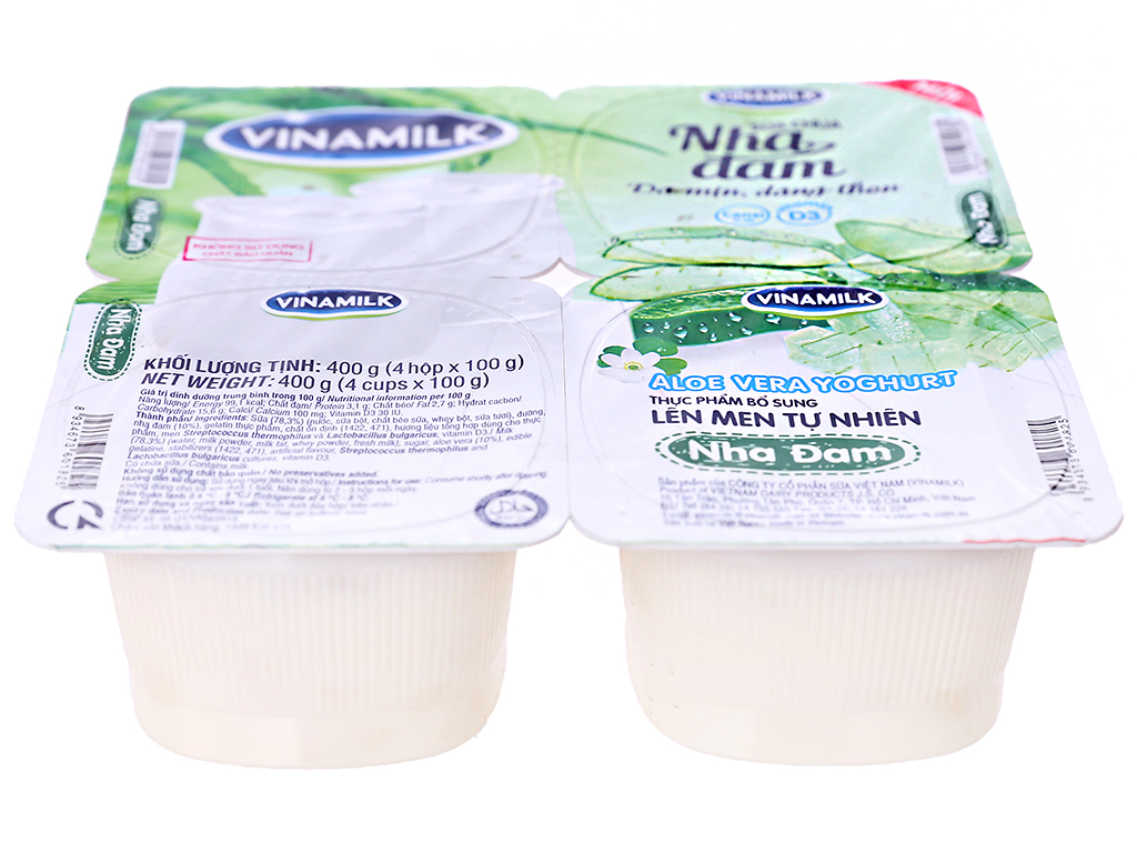 Lốc 4 hộp sữa chua nha đam Vinamilk 100g 2