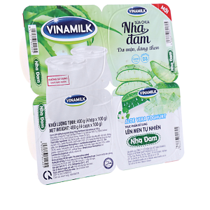 Lốc 4 hộp sữa chua nha đam Vinamilk 100g
