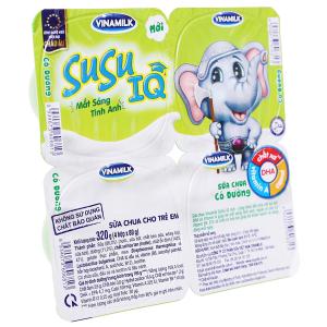 Lốc 4 hộp sữa chua cho trẻ em có đường SuSu 80g