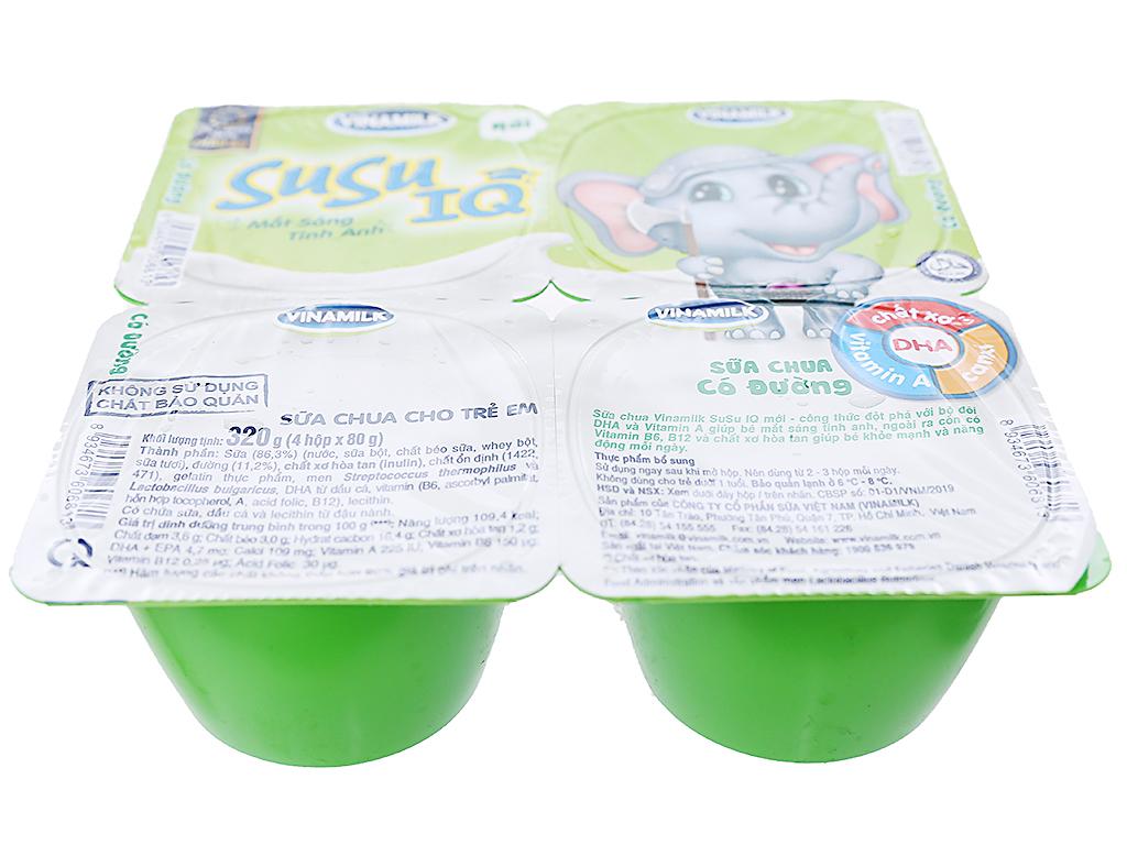 Lốc 4 hộp sữa chua cho trẻ em có đường SuSu 80g 2
