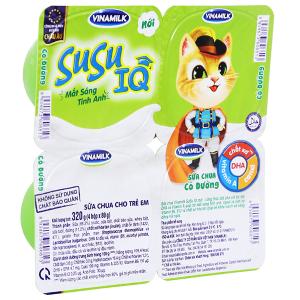 Lốc 4 hộp sữa chua cho trẻ em có đường SuSu IQ 80g