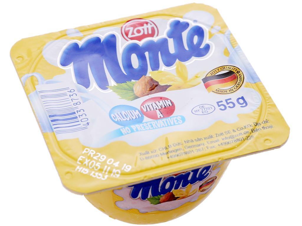 Váng sữa vani Monte hộp 55g 1