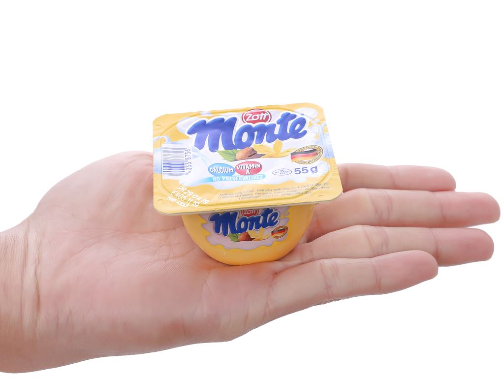 Váng sữa vani Monte hộp 55g 2