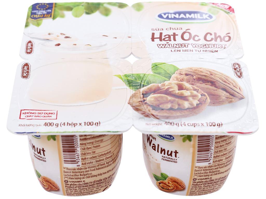 Lốc 4 hộp sữa chua hạt óc chó Vinamilk 100g 2