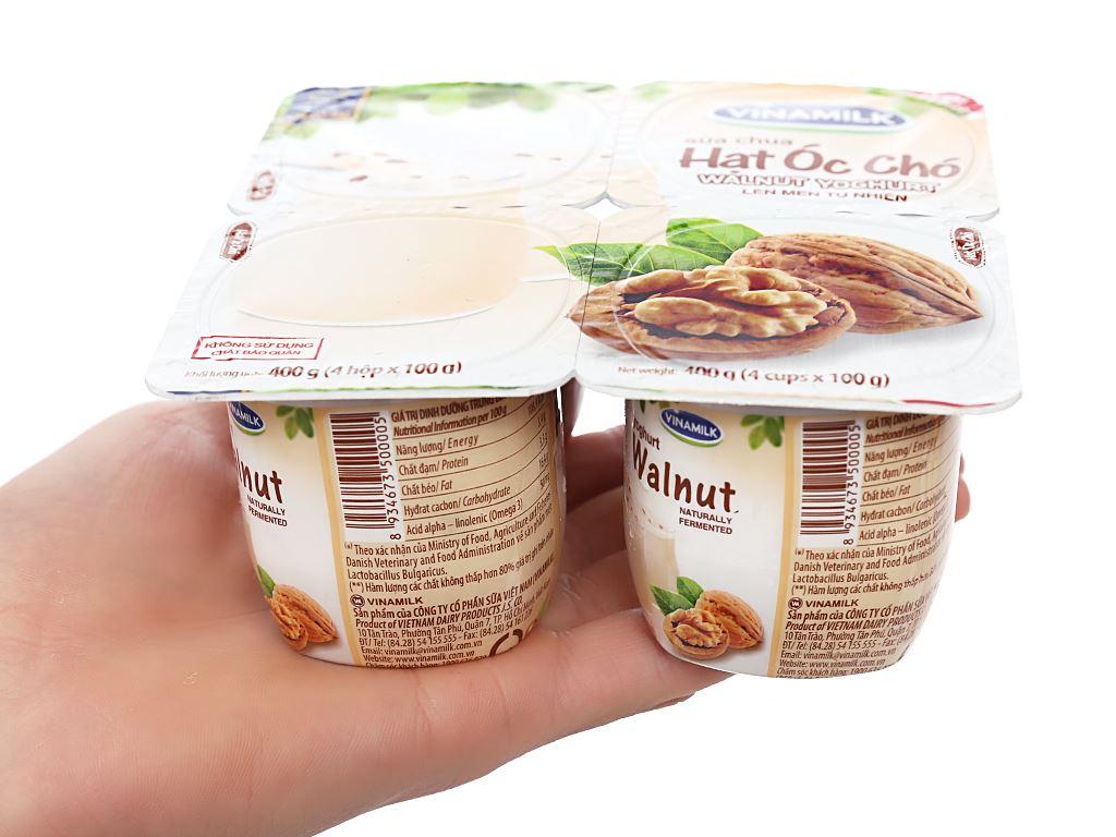 Lốc 4 hộp sữa chua hạt óc chó Vinamilk 100g 3