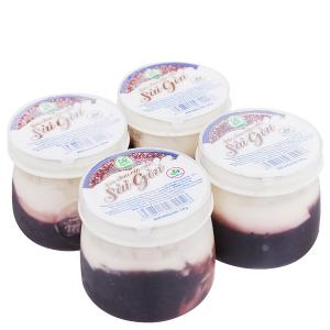 Lốc 4 hũ sữa chua nếp cẩm Sài Gòn Milk 120g