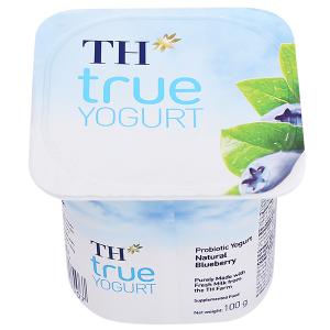 Sữa chua men sống việt quất tự nhiên TH True Yogurt hộp 100g