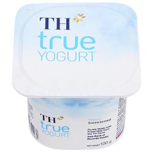 Sữa chua có đường TH True Yogurt hộp 100g