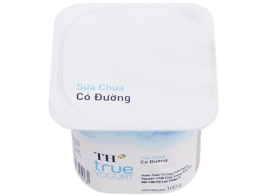 Sữa chua có đường TH True Yogurt hộp 100g 1