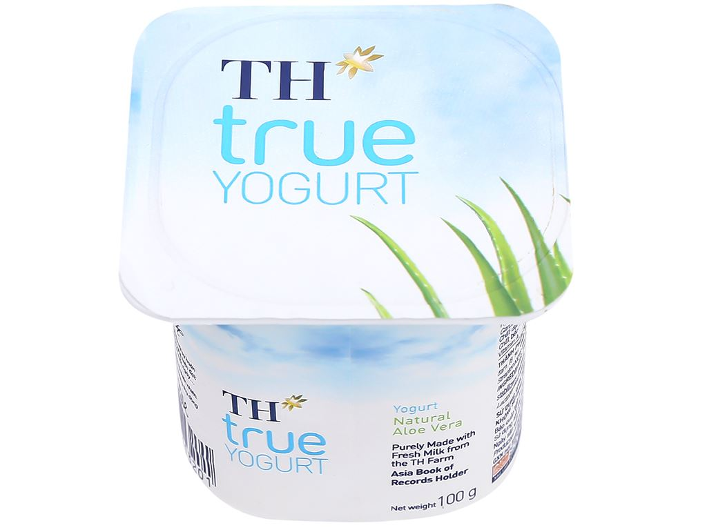 Sữa chua nha đam tự nhiên TH True Yogurt hộp 100g 1