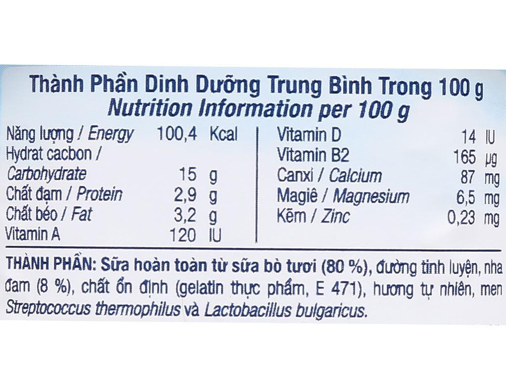 Sữa chua nha đam tự nhiên TH True Yogurt hộp 100g 3