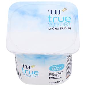 Sữa chua không đường TH True Yogurt hộp 100g