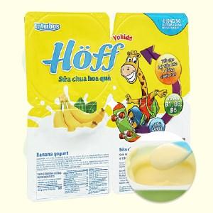 Lốc 4 hộp sữa chua Hoff vị chuối 55g