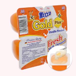 Lốc 4 hộp váng sữa tươi Mixxo Gold 75g