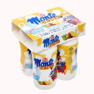 Lốc 4 hũ váng sữa uống Zott vị vani Monte Drink 95ml