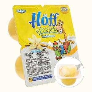 Lốc 4 hộp váng sữa tươi Hoff vani 55g