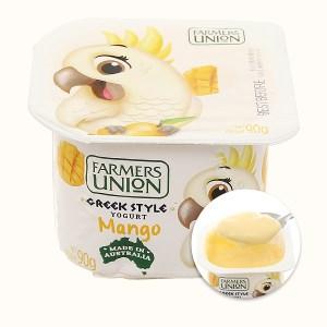 Sữa chua ăn nguyên chất Farmers Union xoài hộp 90g