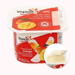 Sữa chua ăn trái cây tươi Yoplait xoài hộp 100g