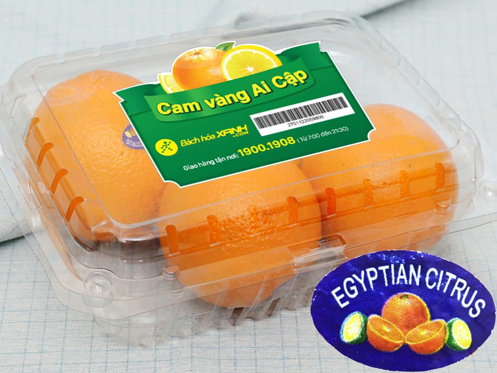 Cam vàng Valencia Ai Cập nhập khẩu hộp 1kg (4- 5 trái) 6