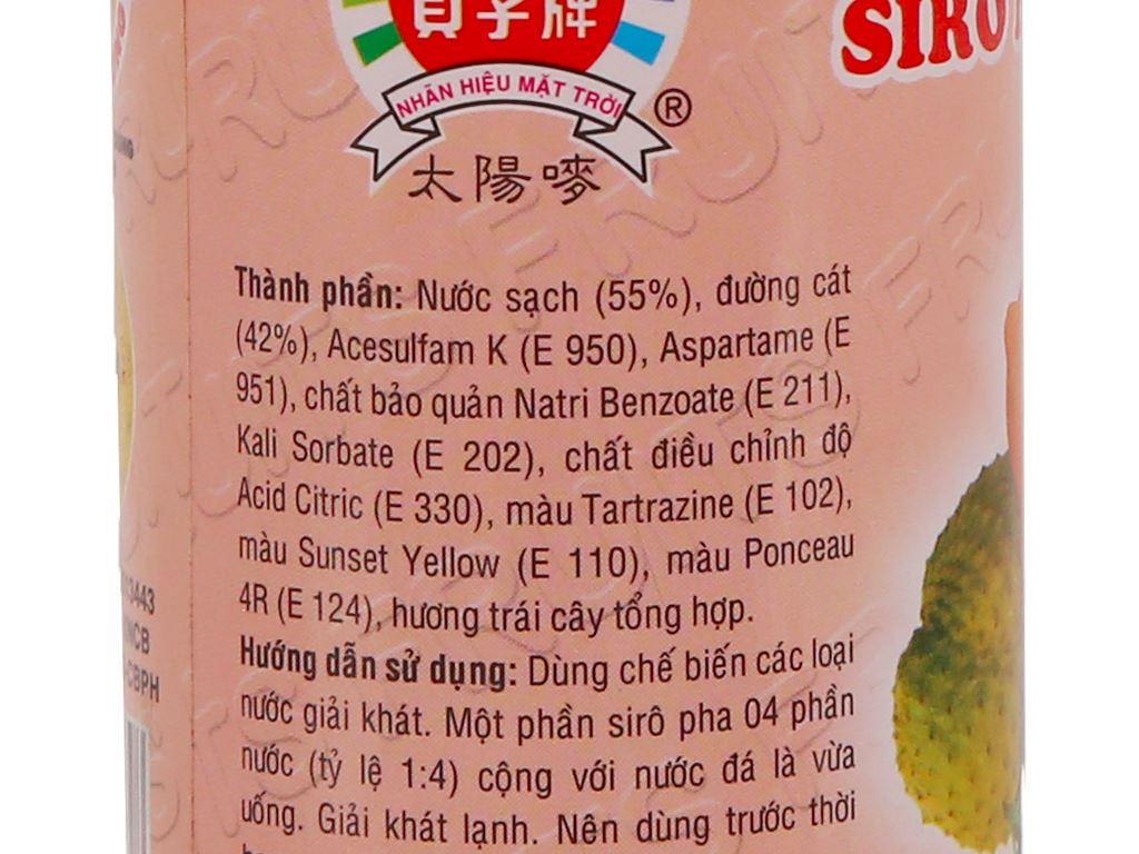 Sirô hương trái cây Trinh 350ml 3
